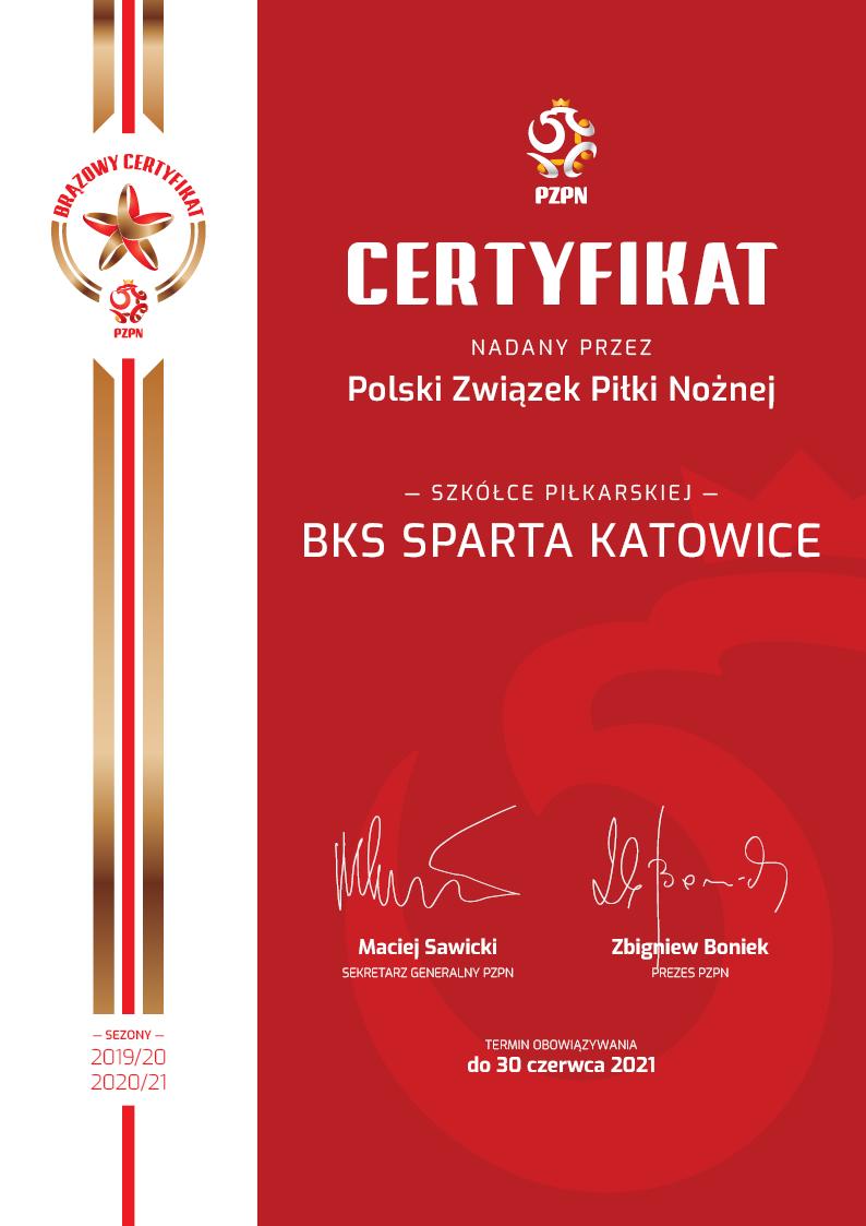 Szkółka posiada certyfikat PZPN